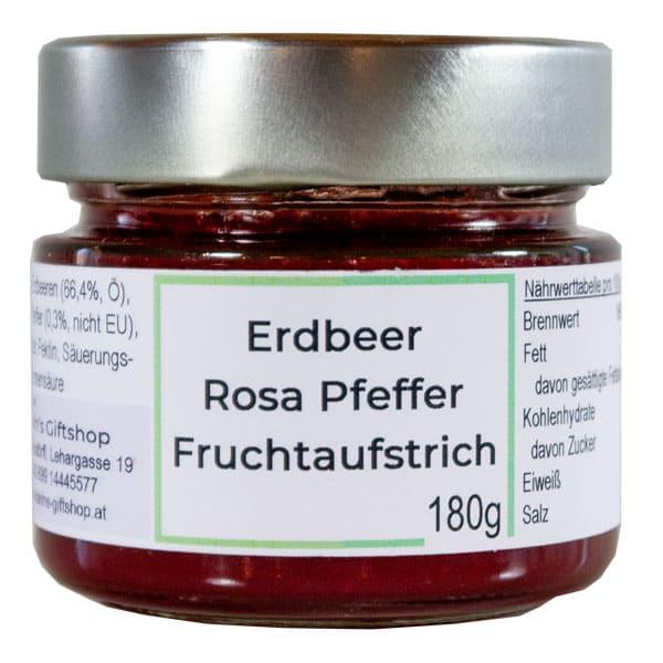 Fruchtaufstrich Erdbeer-Rosa-Pfeffer
